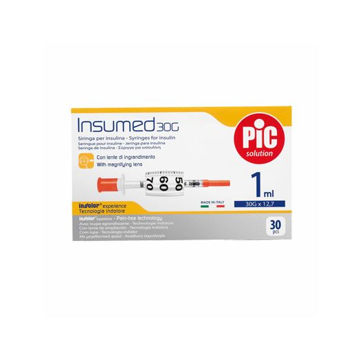 pic insumed spritze by insulin fits g27 12 1ml 1 piece