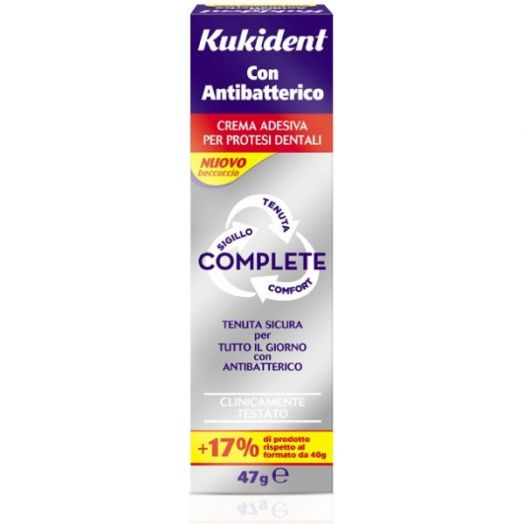 Kukident Complete Antibacterial Adhesive Prosthesis Dental 47g