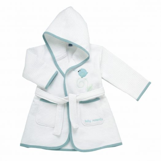 Tender Piquet Blue Bird Bathrobe 12m + ChiccoA(R)
