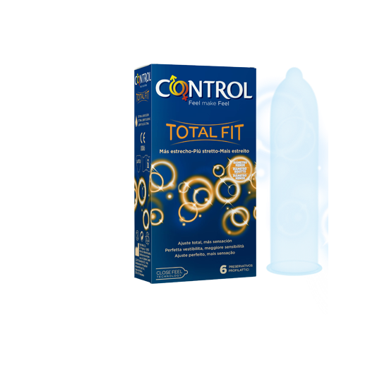 Total Control Fit Condoms 6 Pieces