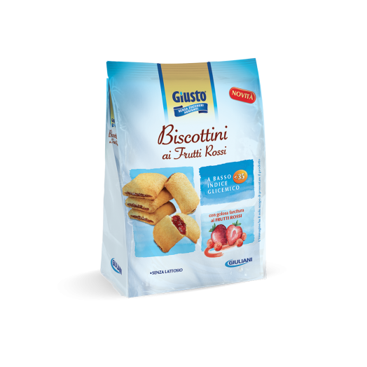 To the right Biscottini Red Fruit Sugar 250g