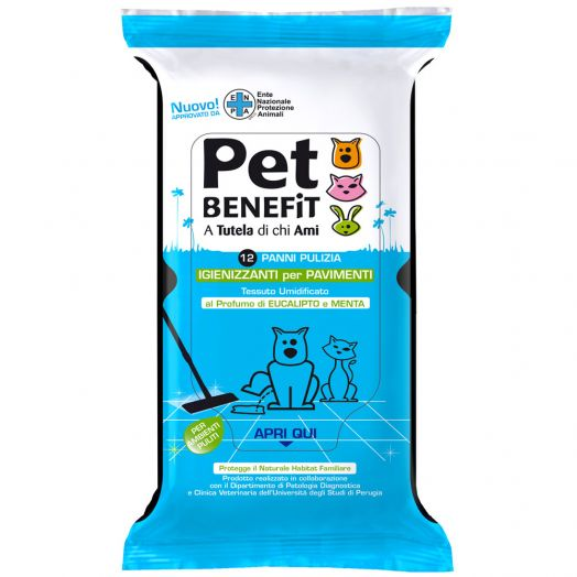 Diva Pet Wipes Floor 12 Pieces Benefit desinfecte