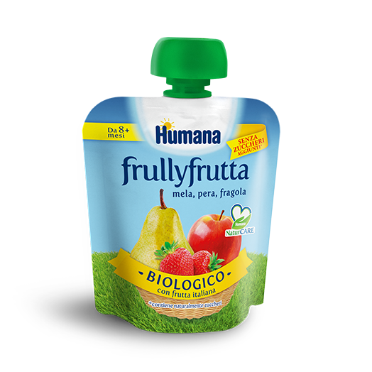 Humana Frullyfrutta Apple Pear fresa 90g