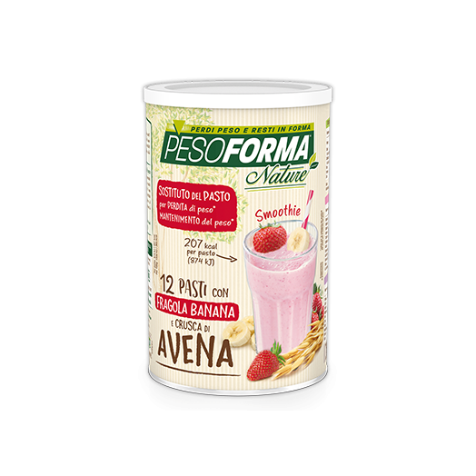 Pesoforma Nature Line Sustituto de pasta Smoothie Strawberry Banana 12 comidas