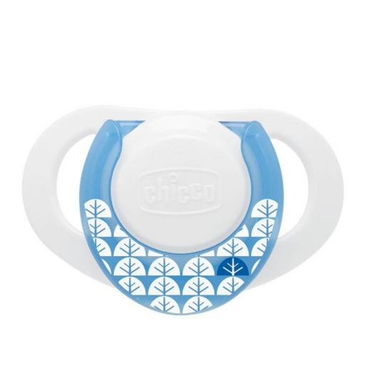 Chicco Physio Soother Boy Compact Silicone 0-6Mesi