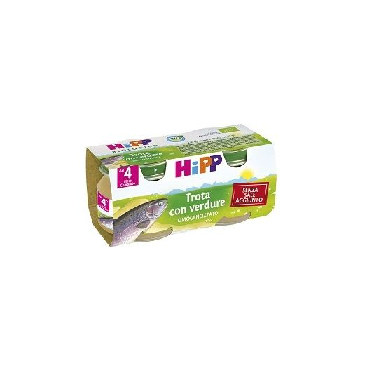 Homogenized Hipp Organic Trout With Vegetables 2x80g
