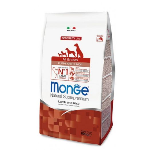 Monge All Breeds Puppy Lamb And Rice 800g