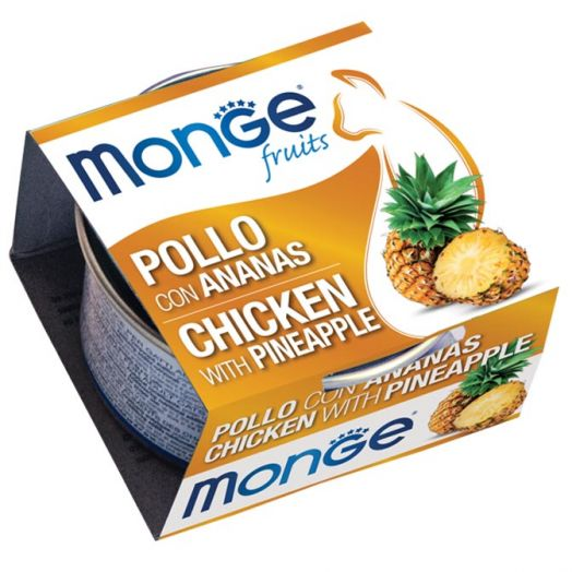 Monge Fruits Chicken With Pineapple 80g