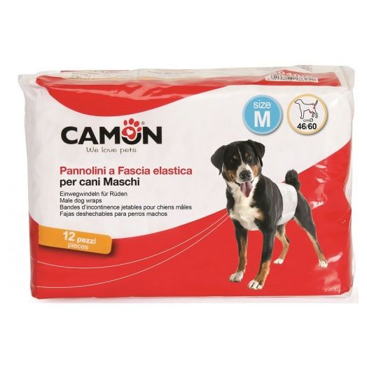 Camon Diapers Band For Dogs Male 2 12 Pieces