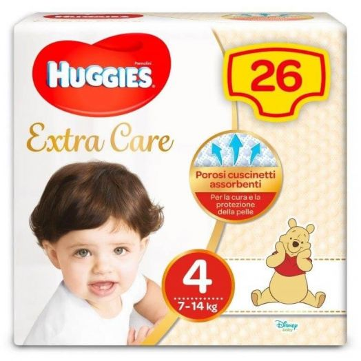 Paquete Huggies Extra Care Size 4 de 26 panales