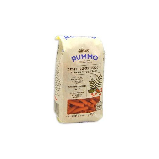 Rummo Pasta of Red Lentils and Integral Rice Maccheroncelli n7 Gluten Free 300g