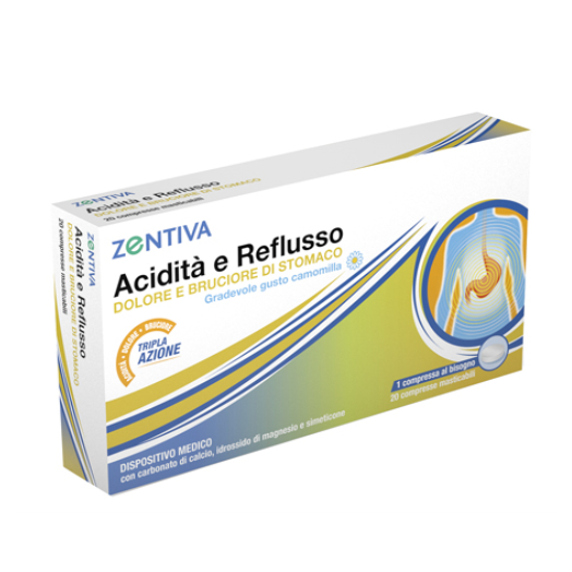 Acidity And Reflux Zentiva 20 Tablets