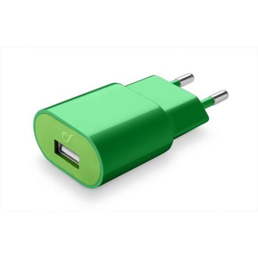 Usb Charger 2A Green Cellularline 1 Green Charger
