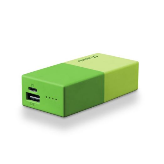 Powerbank 5000 Universal Cellularline 1 Green Charger
