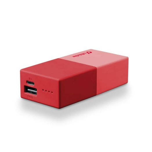 Powerbank 5000 Universal Cellularline 1 Charger Red