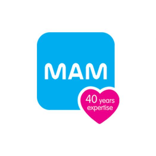Original 16 + M Light Blue Silicone MAM 2 Soothers