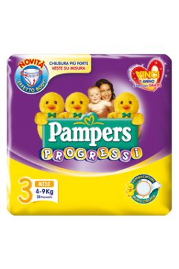Pampers Sensitive Progress Midi Size 3 (4-9 kg) 28 Pieces